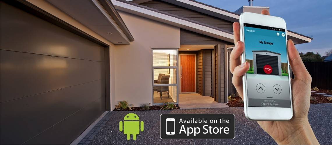 You can now open your Garage Door with our secure Smart Phone App & Kit